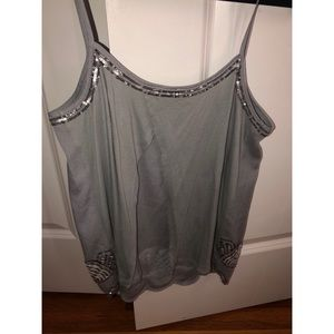 Beaded Express tank top. Worn once.
